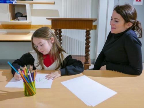 Expo BD- Les enfants s'initient au dessin