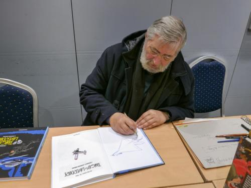 Expo BD-  Le dessinateur de Tanguy et Laverdure